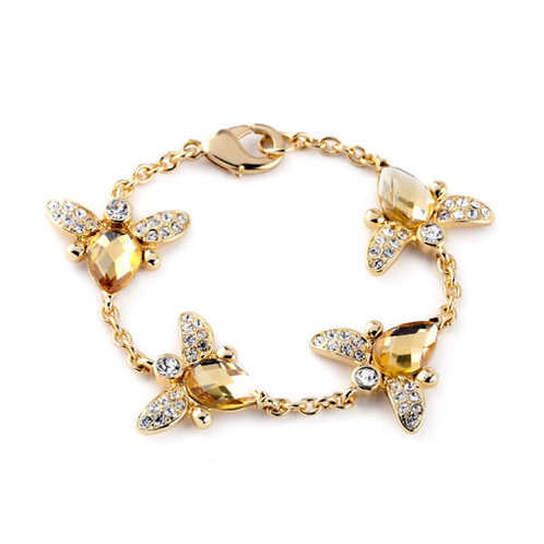 Chic Honeycone Bee Cocktail Bracelet
