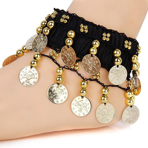 Bohemian  GOLD Coins Anklet