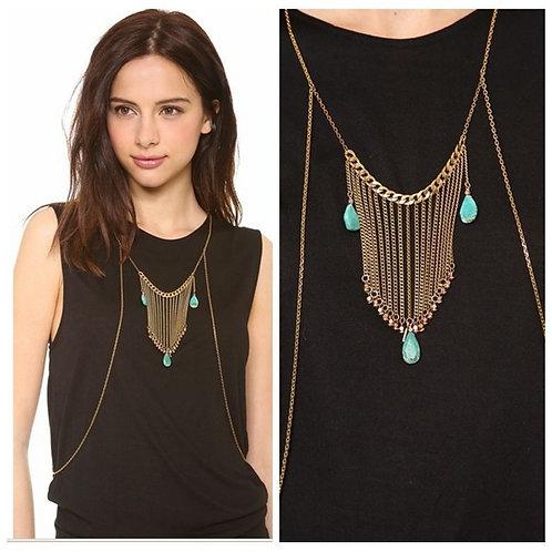 Bohemian Tassel Pendant Body Chain Necklace