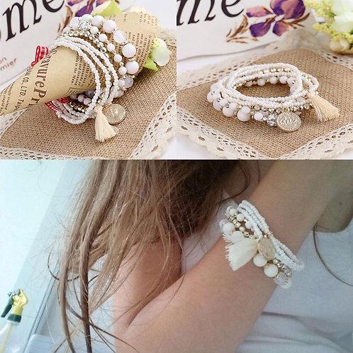 Multi Layer Wrap Wristband Bracelet