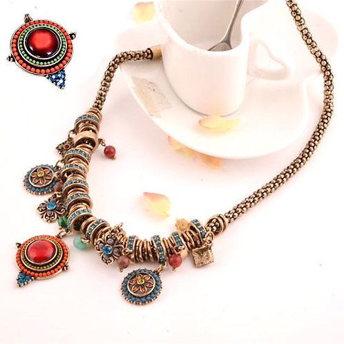 BOHO Gypsy Indian Pendant Necklace