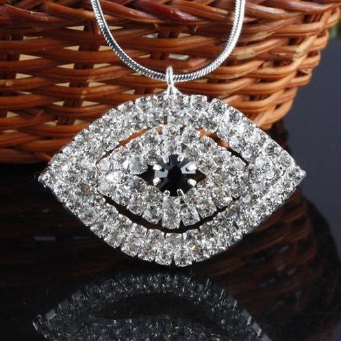 Crystal Rhinestone Evil Eye Necklace