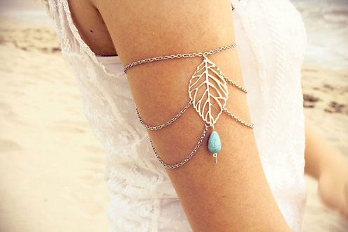 Turquois Leaf Upper Arm Band