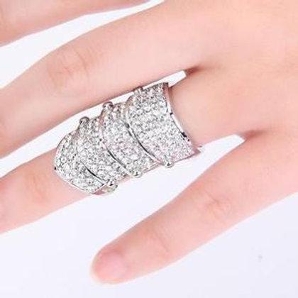 Full Rhinestone Knuckle Ring