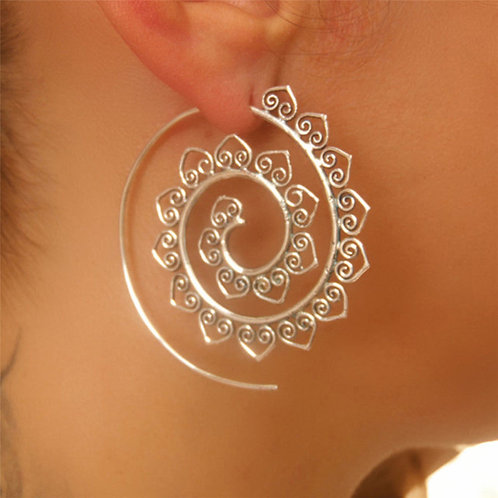 Boho Tribal Hoop Earrings