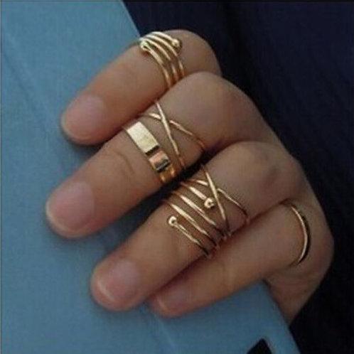 6Pcs/Set Midi Above Knuckle Rings