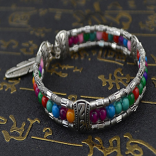 Boho Rhinestone Beads Multi-Colored Bracelet