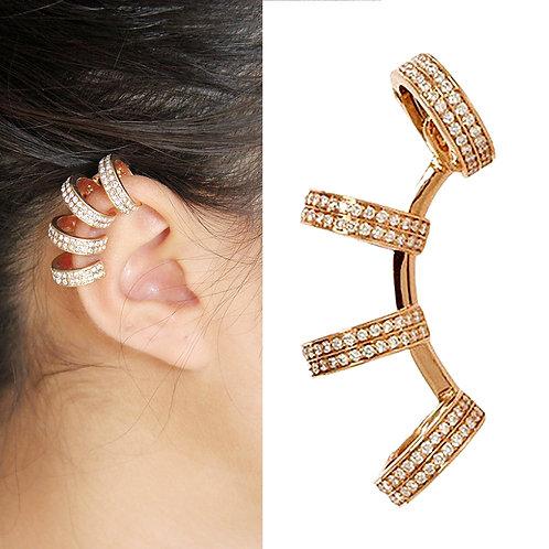 Crystal Ear Clip Cuff Wrap No piercing