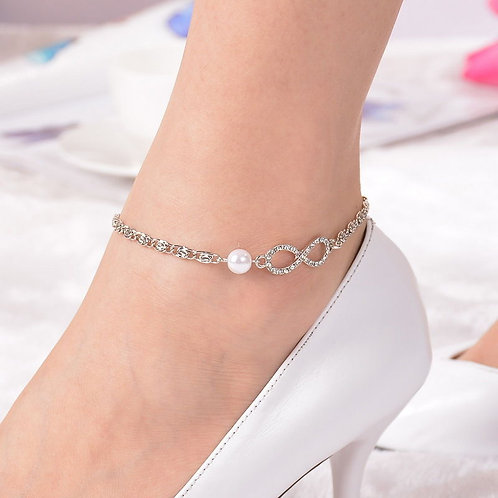 Infinito Heart Anklet