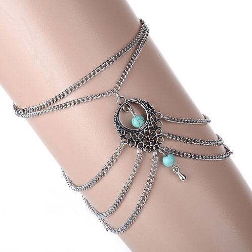 Bohemian Upper Arm Turquois Chain