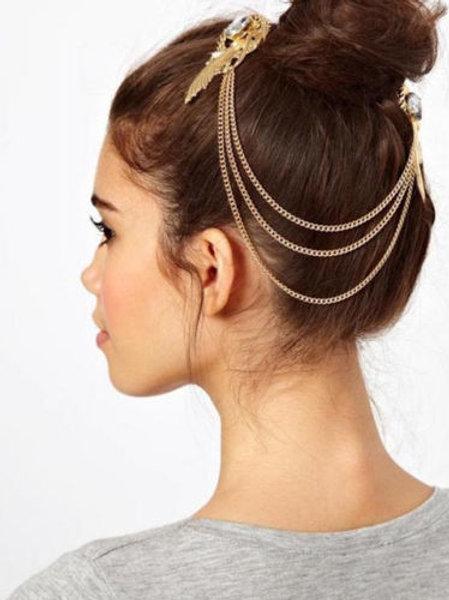 Ladies Metal Rhinestone Headband