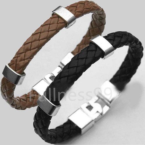 Men's Leather Wrap Wristband