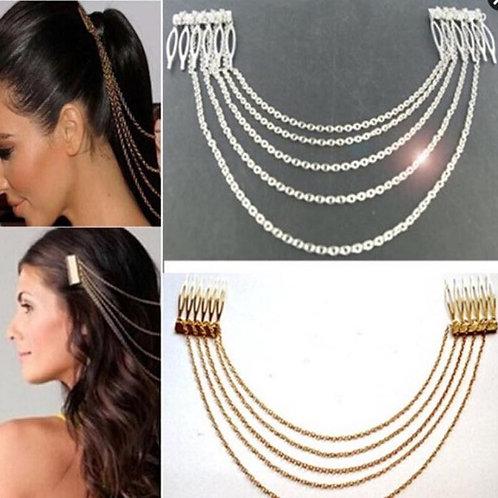 Lady's Metal Tassel Head Chain