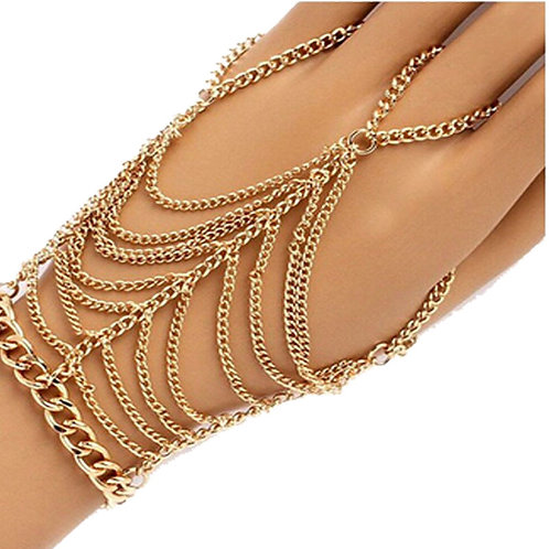 Gold Plated Bracelet Chain Harness