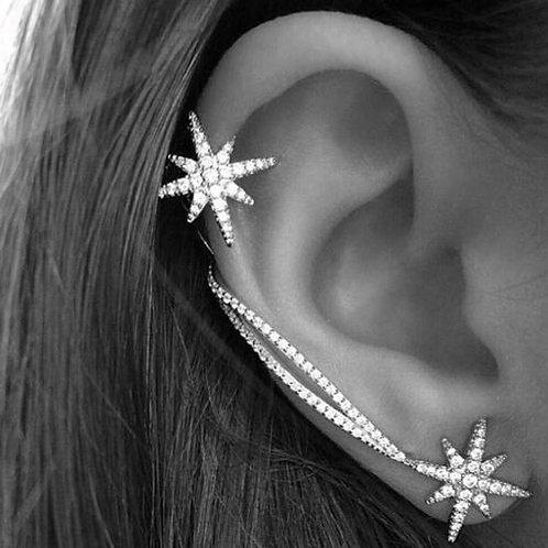 Shining Star Rhinestone Clip Ear Cuff