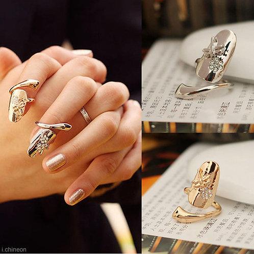 Dragonfly Flower Fingertip Ring