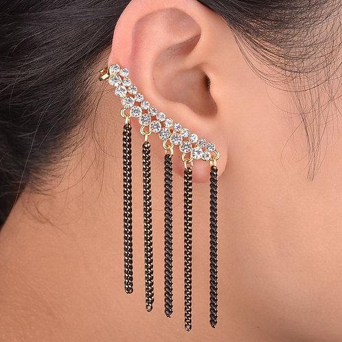 Crystal Clip Right Ear Cuff