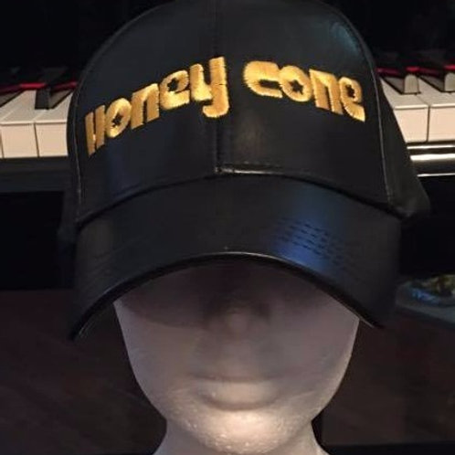 Honeycone Black Leather Hat