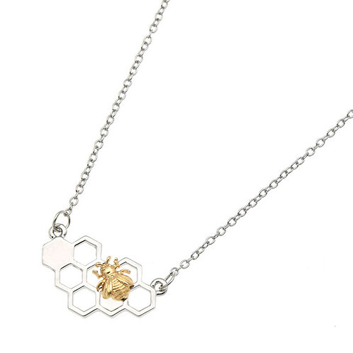 Honey Cone Silver Necklace