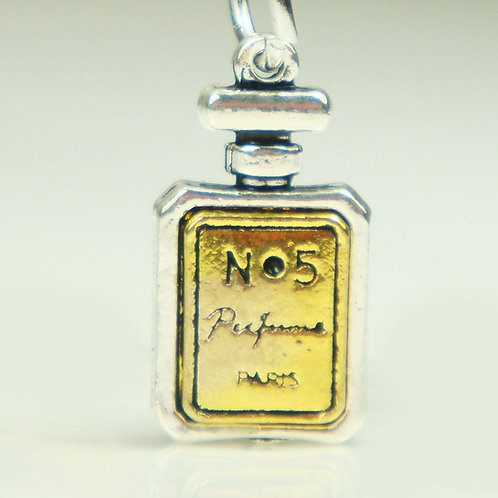 Perfume Charm Silver Beads Pendant