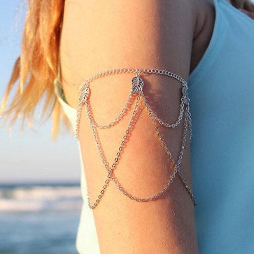Silver Leaf Upper Armband