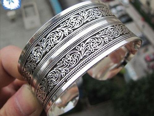Tibet Silver Totem Bangle