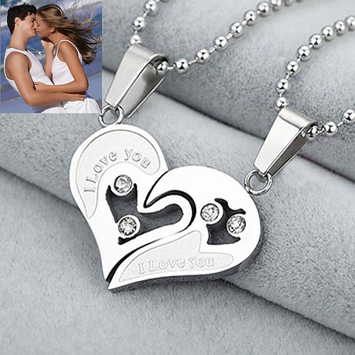 2PC/Set Heart Couple Necklace