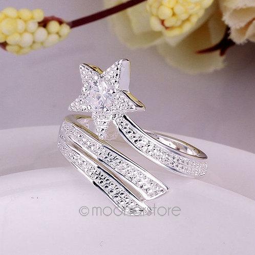 925 Sterling Silver Shining Stars Ring