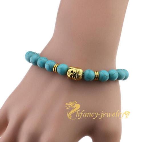 Turquoise Natural Energy Buddhist Prayer Beads