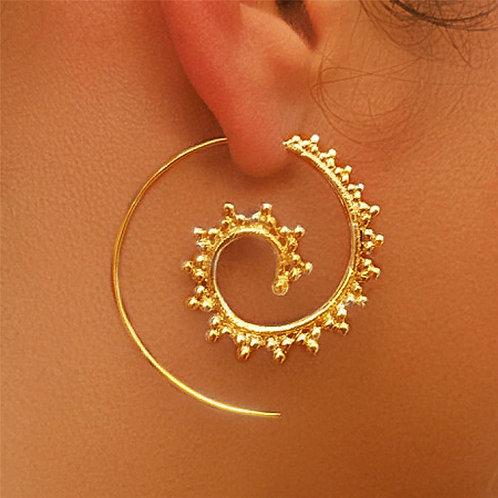 Boho Tribal Hoop Earrings