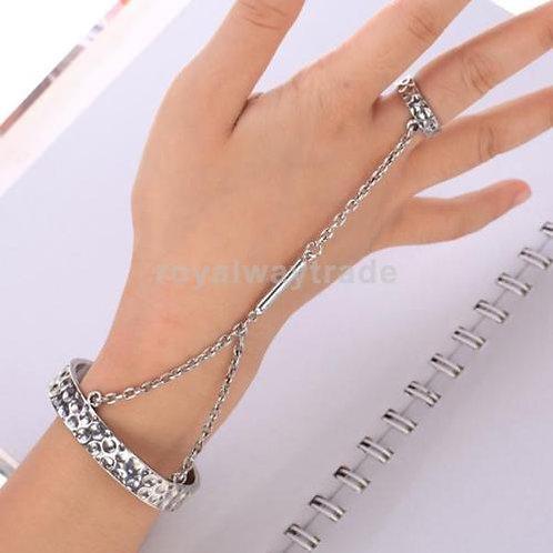Chain Link Bangle Cuff Bracelet
