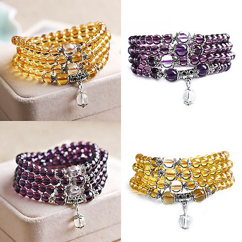 Buddhist Amethyst Prayer Beads