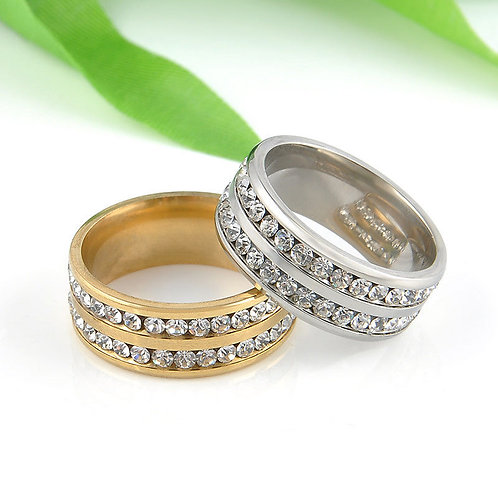 Unisex Stainless Steel Ring Men/Women's Wedding Band Silver/Gold