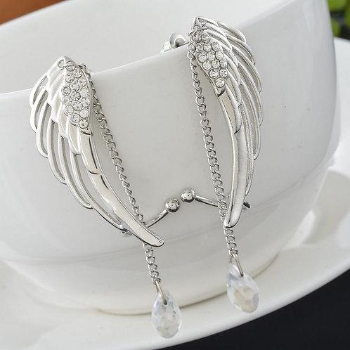 Crystal Angel's Wings Ear Cuff