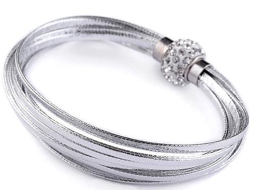 Leather Wrap Wristband Cuff Bracelet