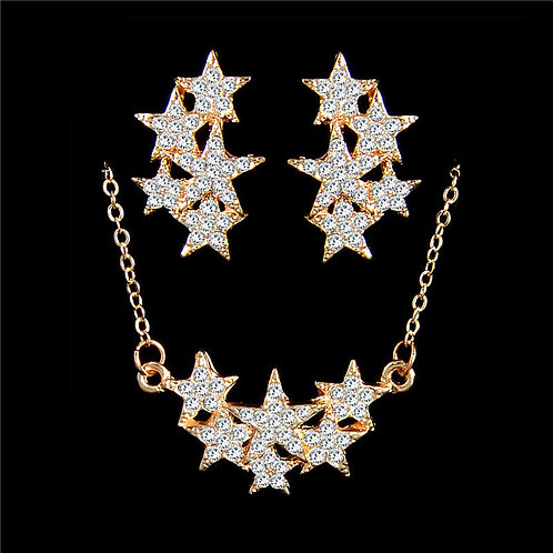 18K Plated Shining Stars Set