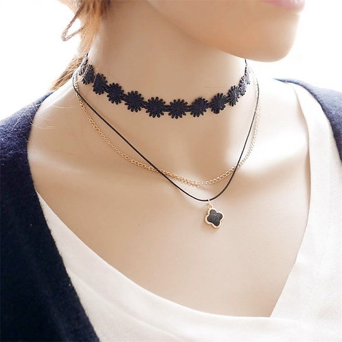 Black Clover and Lace Choker