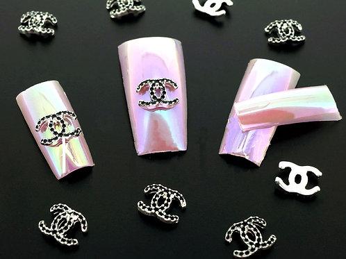 3D SUPERIOR Alloy Jewelry Nail Art  10 pc Set