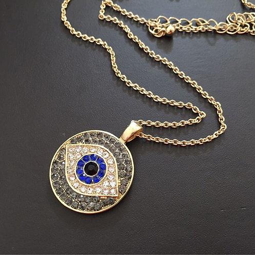 Evil Eye Rhinestone Necklace