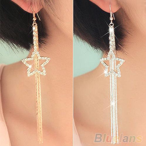 Shining Starz Long Drop Earrings