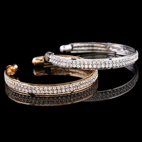 Ladies Crystal/Rhinestone Bangle