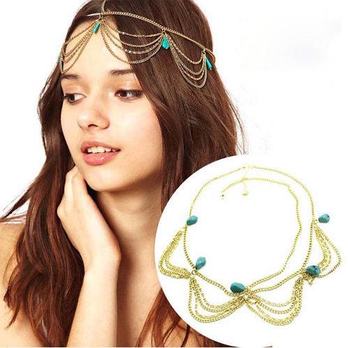 Bohemian Turquoise Headband