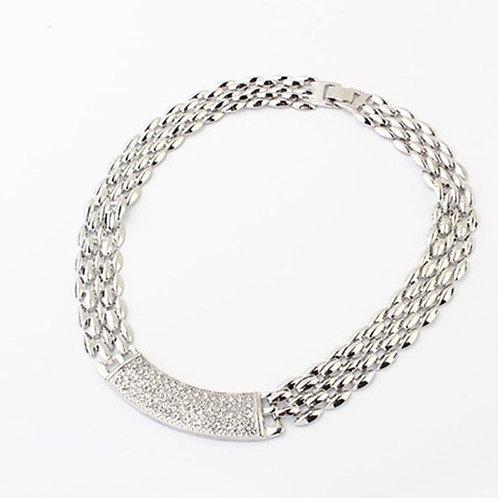 Rhinestone Choker Collar