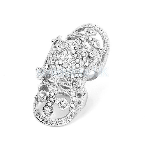 Crystal Rhinestone Joint Hinged Ring