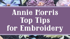 Top Tips for Embroidery with Annie Morris and Hochanda