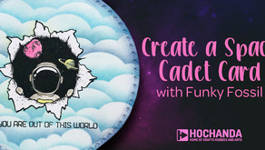 Create a Space Cadet Card with Funky Fossil
