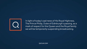 Channels suspend broadcasts as mark of respect following Death of HRH The Duke of Edinburgh