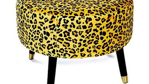 Erica Davies' best-selling leopard print stool is back at QVC by popular demand