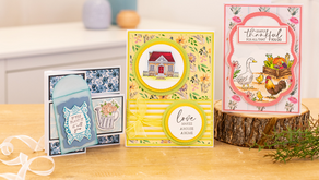 Crafter's Companion launching its new Nature's Garden Farmhouse collection.