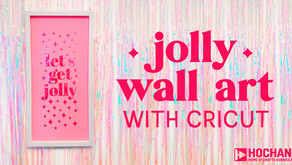 Create your own Jolly Wall Art with Cricut